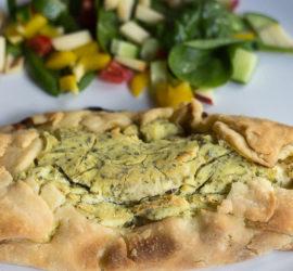 glutenfri butterdejspakker med kylling og grøn pikantost